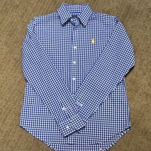 Ralph Lauren sport 6 blue gingham polo